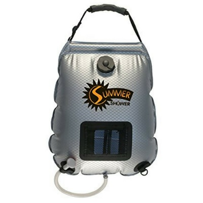 The Advanced Elements 5 gallon Summer Shower is the perfect solar camping shower.