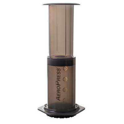 The Aeropress coffee press is the best choice for making coffee while camping