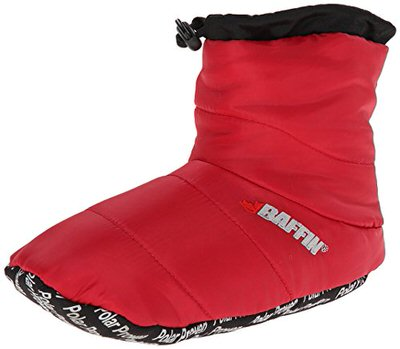 The Baffin Cush insulated slipper booty is perfect for keeping your feet warm around the campsite.